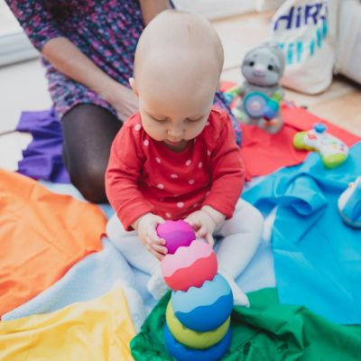 Sensory toys for babies and toddlers background image