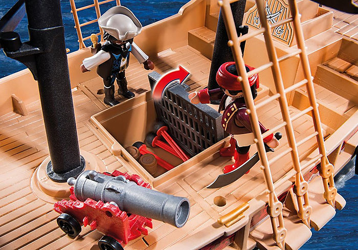 Playmobil Floating Pirate Raiders Ship with Cannon