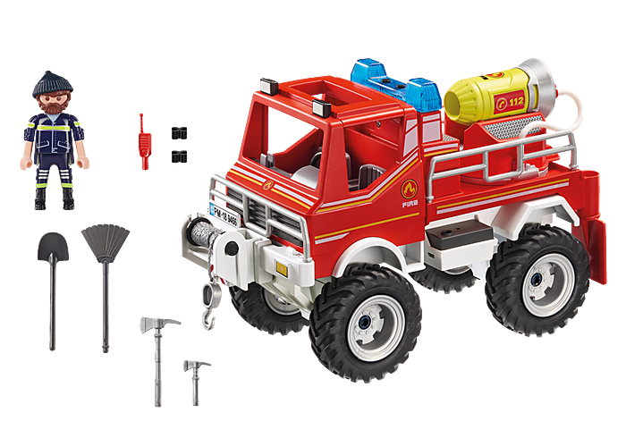 Playmobil City Action Fire Truck with Cable Winch and Foam Cannon