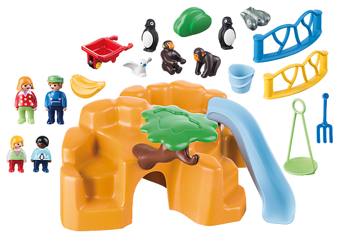 Playmobil 1 2 3 Zoo with Penguin Enclosure