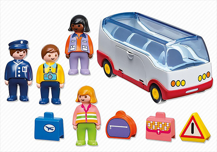 Playmobil 1 2 3 Airport Shuttle Bus