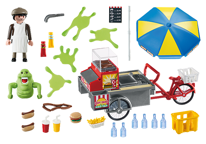 Playmobil Ghostbusters Slimer with Hot Dog Stand