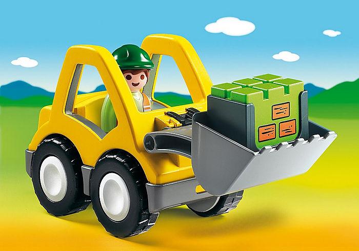 Playmobil 1 2 3 Excavator