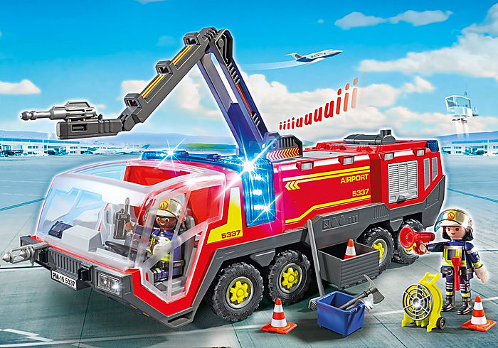 Playmobil City Action Airport Fire Engine with Lights and Sound