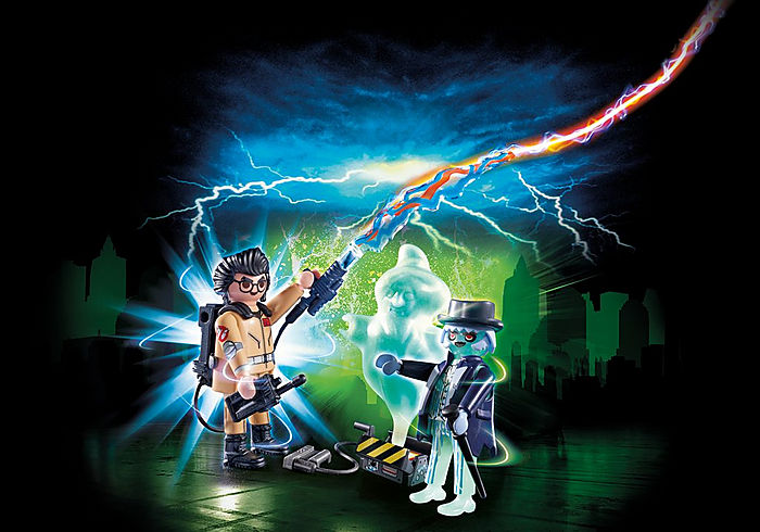 Playmobil Ghostbusters Spengler with Ghost