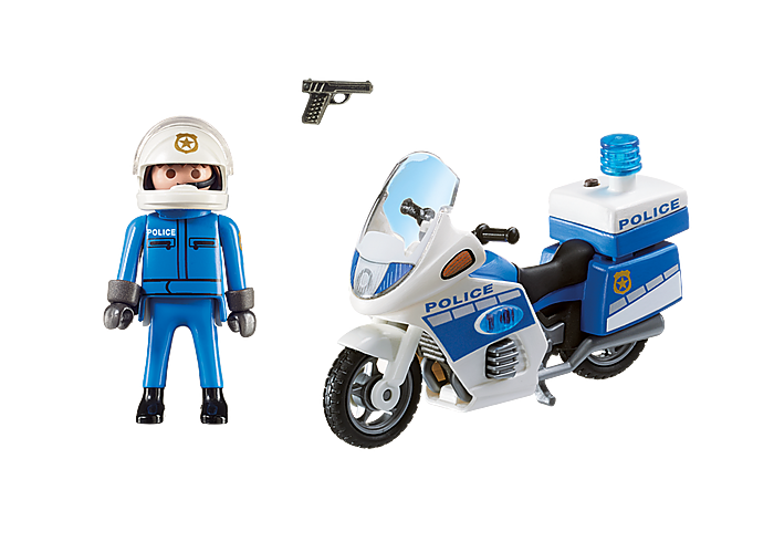 Playmobil City Action Police Bike with LED Light