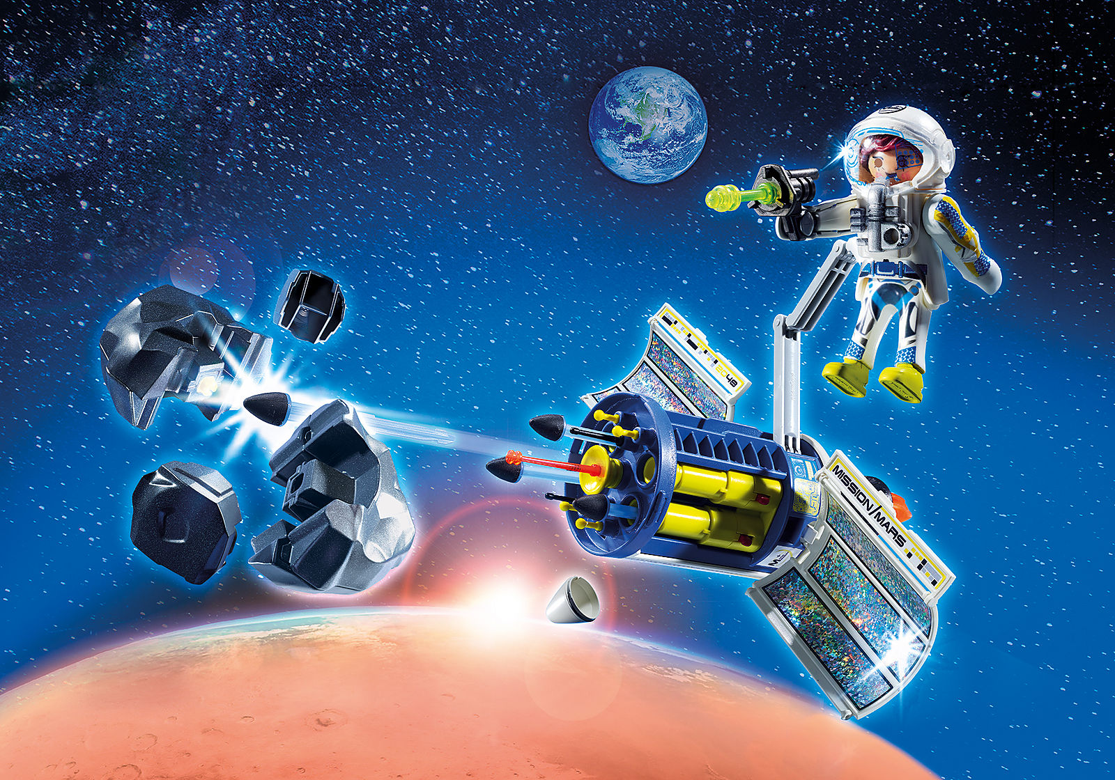 Playmobil Space Satellite Meteoroid Laser