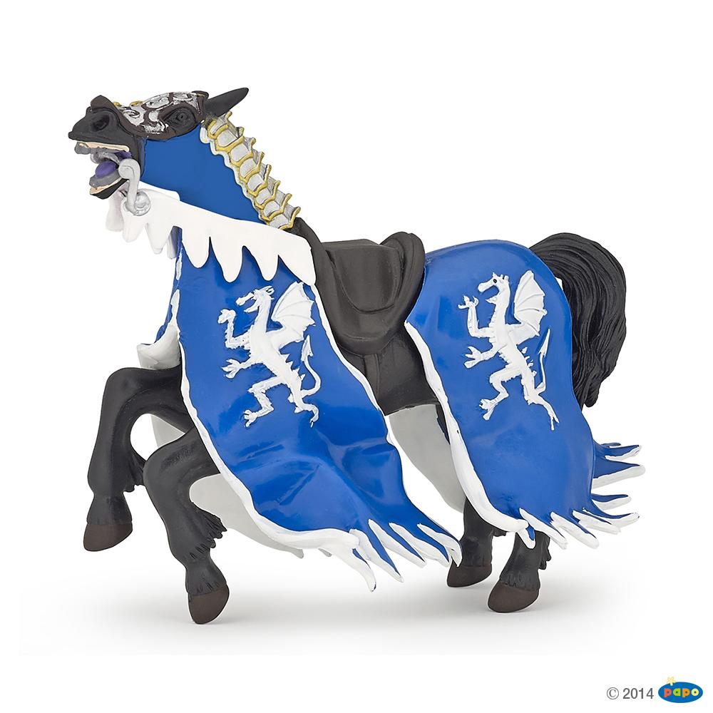 Papo  Blue Dragon King Horse Figure