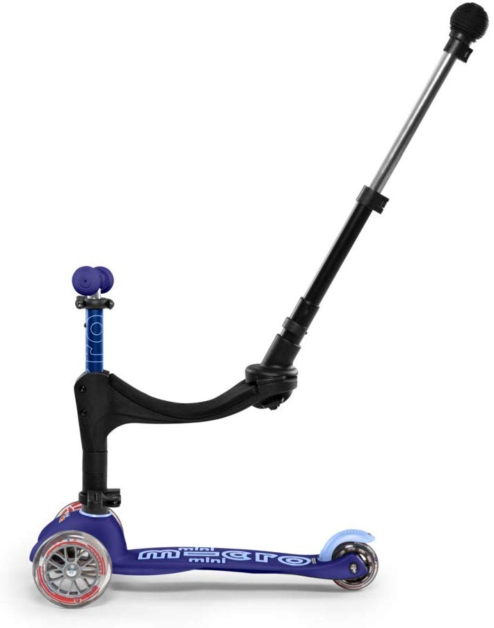 Micro 3 in 1 Deluxe Plus Push Along Scooter - Blue