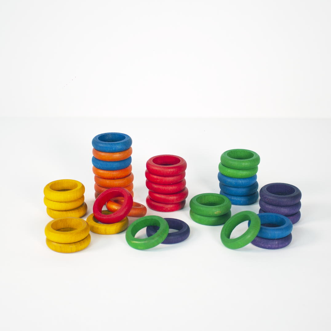 Grapat Extras Rainbow Rings 6 Colours x18