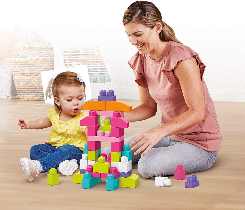Mega Bloks Big Building Bag 60 Pcs - Pink