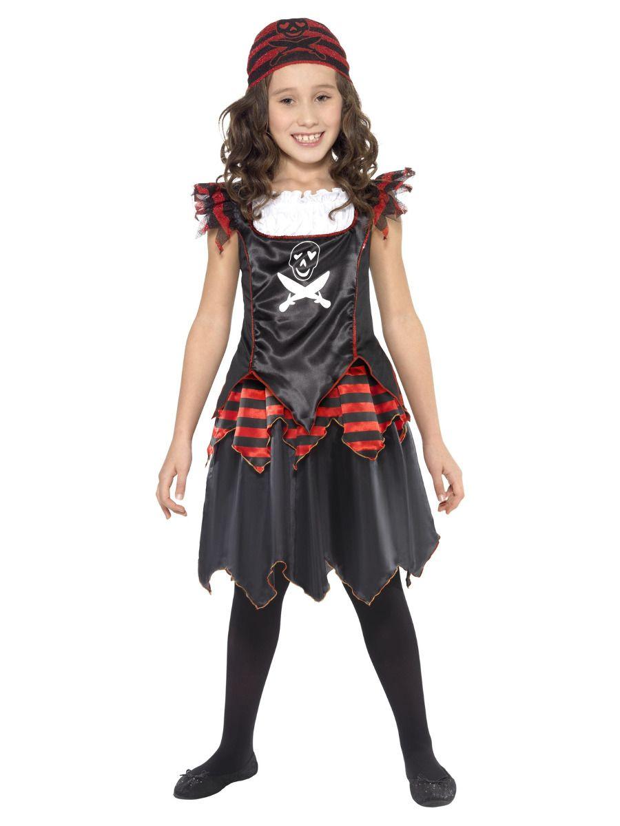Smiffys Pirate Skull & Crossbones Girl Costume - Small