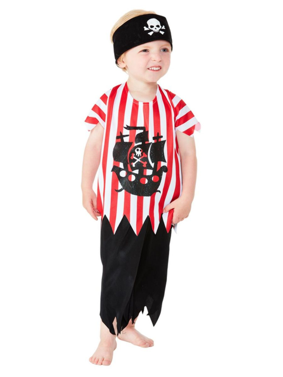Smiffys Jolly Pirate Costume - Toddler Small
