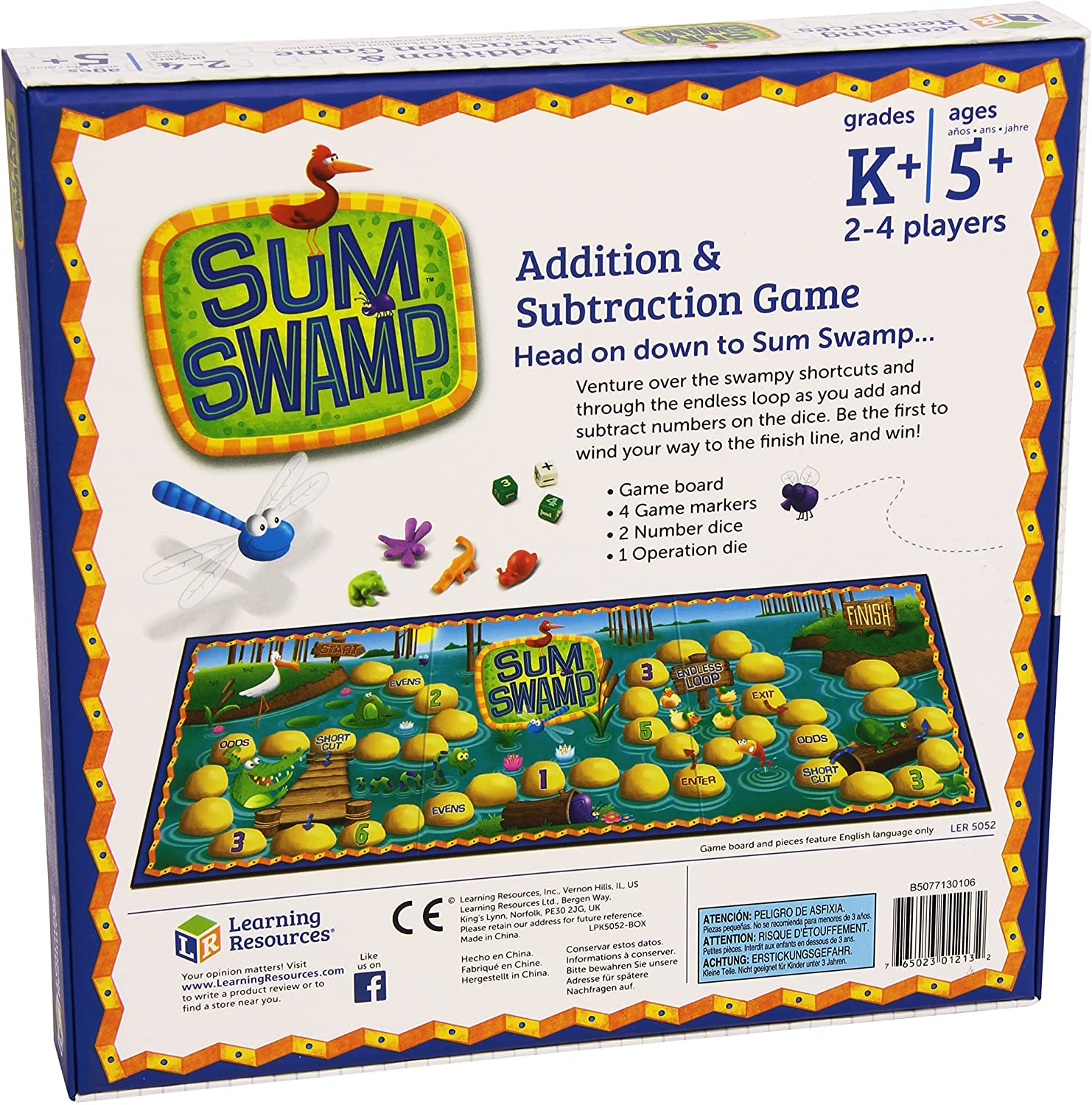 Learning Resources Sum Swamp Addition and Subtraction Game