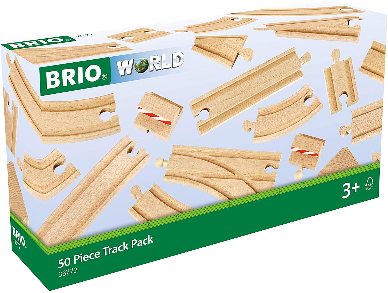 BRIO World Railway Track - 50pc set