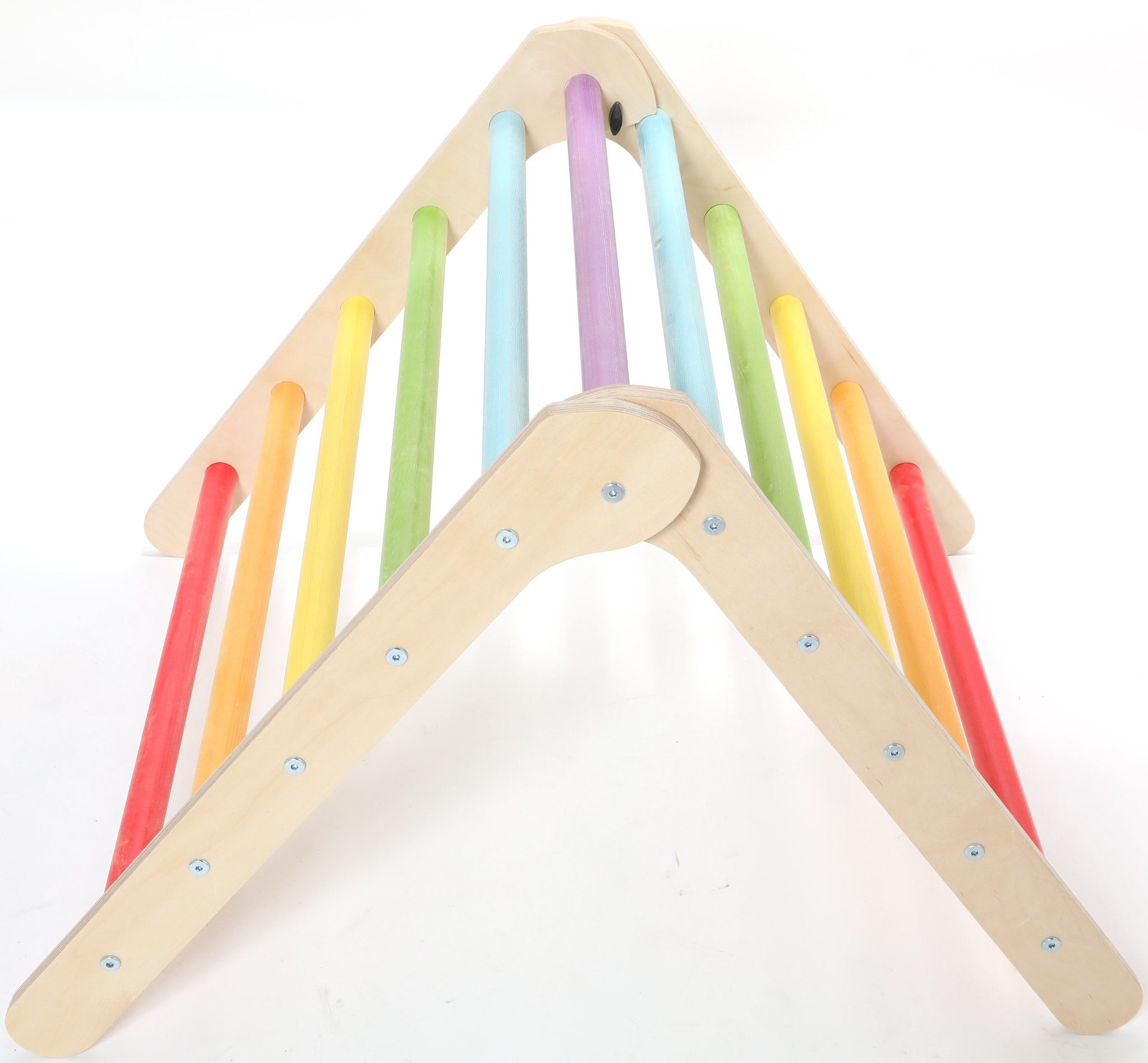 Sawdust And Rainbows Wee'UN Pikler Triangle - Rainbow