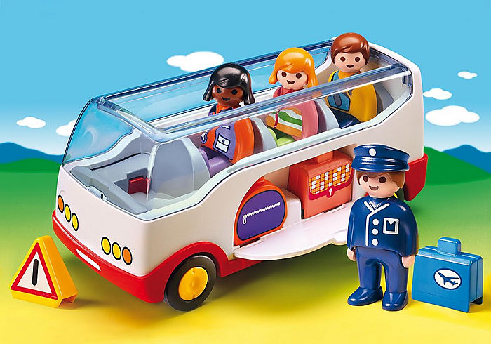 Playmobil 1 2 3 Airport Shuttle Bus